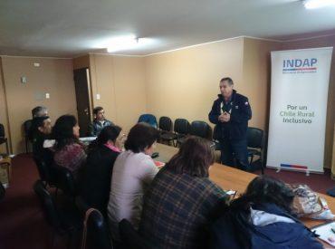 Agricultores de la región se capacitan gracias al convenio INDAP-SENCE