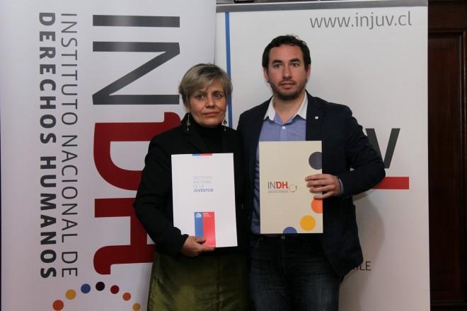 INJUV e Instituto Nacional de Derechos Humanos firman convenio de cooperación
