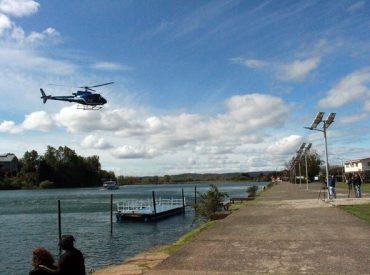Helicóptero PDI realizó sobrevuelo para ubicar a joven desaparecida en Valdivia