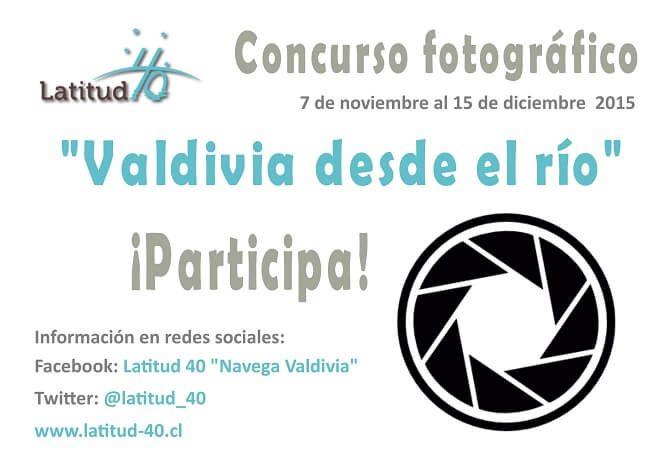"""Latitud 40 lanza concurso fotográfico """"Valdivia desde el río"""": hasta el 15 de diciembre"""