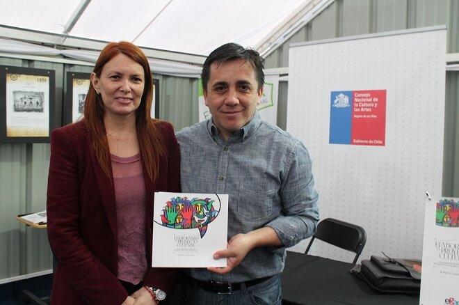 Directora Regional de Cultura Lorenna Saldías y Roberto Guerrab