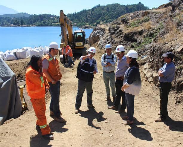 Importantes avances presentan obras del nuevo puerto de embarque en Isla Huapi