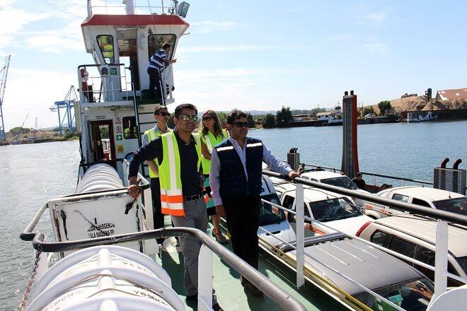 La barcaza Tehuelche inició el servicio de conectividad entre Torobayo y Las Mulatas.