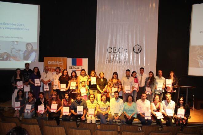 En Valdivia y La Unión se reconoció a los ganadores de los Capitales Semilla y Abeja