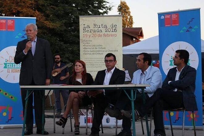 """Con lanzamiento de Ruta de Neruda """"Chile Celebra el Verano"""" llegó a Futrono"""