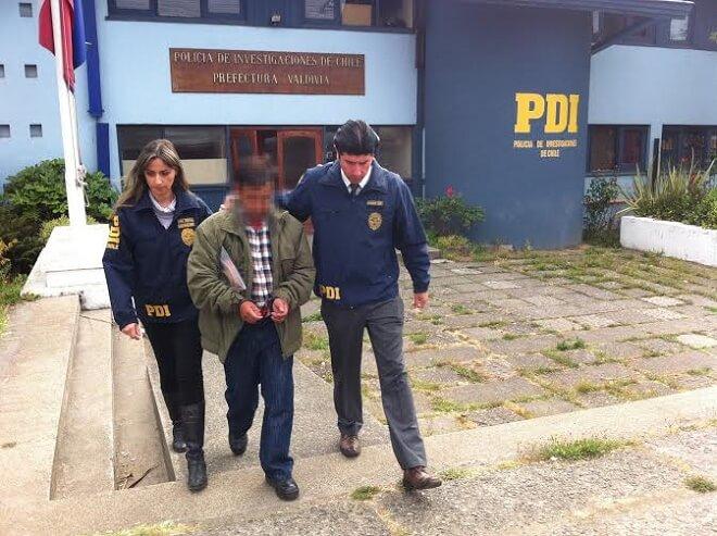 PDI detiene a individuo por violación de un menor de siete años.