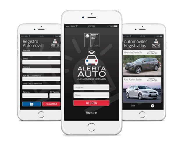"""""""Alerta auto"""": aplicación busca reducir tiempo de búsqueda de vehículos robados"""