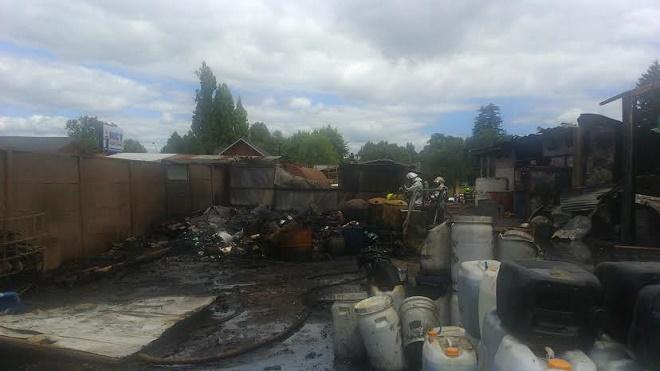Autoridad SanitariaNotificó de infracción a empresa de residuos incendiada
