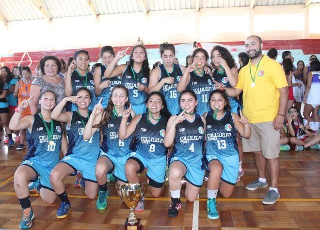 Deportivo Collilelfu de Los Lagos y Antofagasta se titularon campeonas en el 6° Torneo Internacional de Básquetbol Femenino