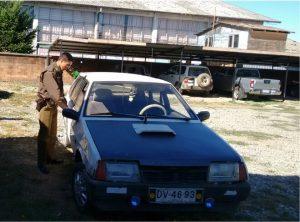 Automóvil  ladrones  servicentro 15.02.2015