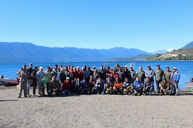 Los locales se impusieron en campeonato de pesca recreativa en el Lago Riñihue