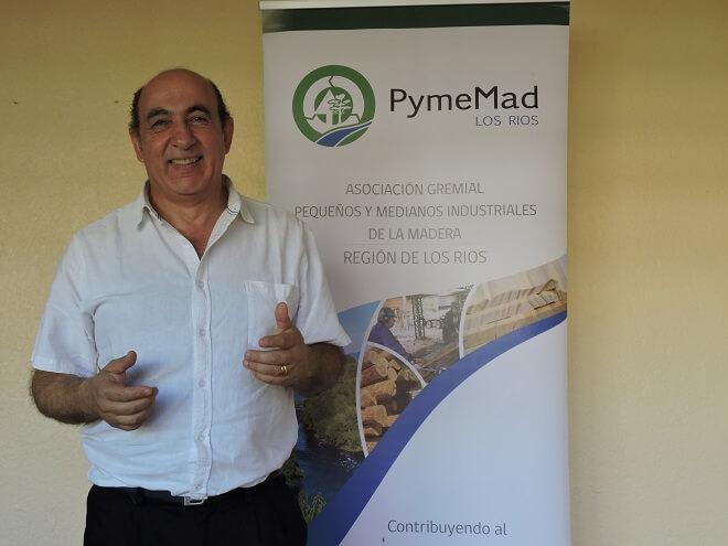 """Fernando Hales, presidente de Pymemad Los Ríos: """"La industria de la madera es lejos la que más aporta economía a la región"""""""