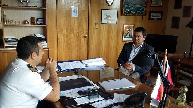 Presidente del CORE planteó preocupación por uso de borde costero al gobernador marítimo