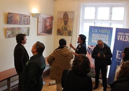 """Exposición """"La visita"""":muestra artística de internos de Valdivia"""