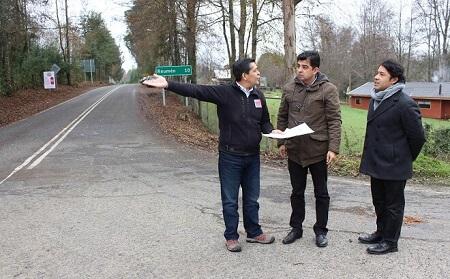 MOP iniciará mejoramiento vial en La Betonera en cruce hacia Reumén
