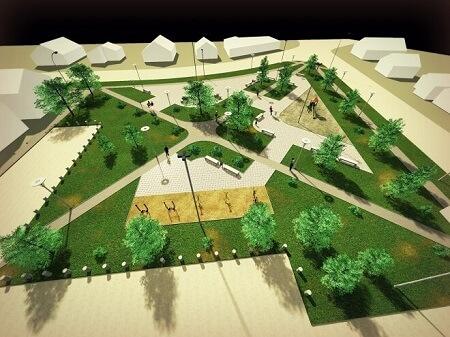 Municipio valdiviano presenta proyecto de nueva plaza a vecinos de Villa San Luis