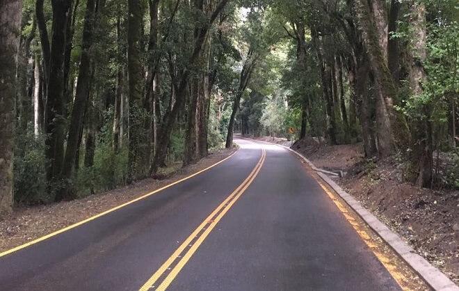 Con asfaltado del tramo del Bosque Quillín terminó mejoramiento de Ruta Puerto Nuevo-Quillaico