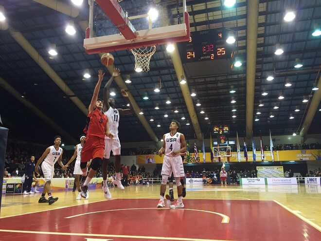 Estados Unidos derrotó Chile en el Campeonato FIBA Américas U18 de Valdivia