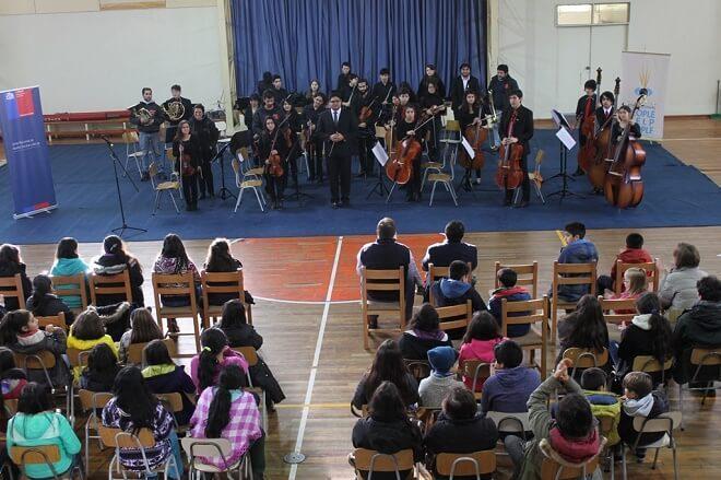 Con un magistral concierto Junaeb da inicio a los campamentos escolares de invierno en Panguipulli