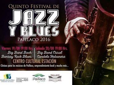 Esta noche comienza el quinto Festival de Jazz y Blues en Paillaco