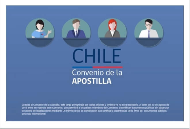 Chile presenta nueva forma para legalizar documentos públicos y ser presentados en el extranjero