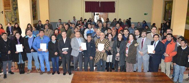 Gobierno en Los Ríos y 49 Comunidades Indígenas de Mariquina Suscribieron Compromisos de Gestión Pública