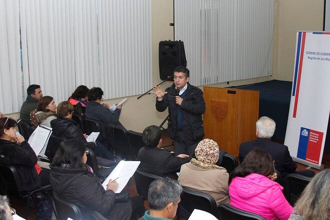 Dirigentes sociales de Los Ríos se reunieron en La Unión para dialogar sobre la Ley de Juntas de Vecinos