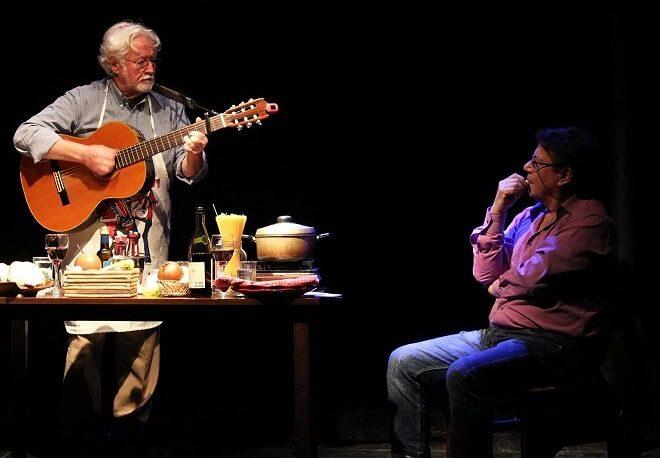 Horacio Durán y José Seves llegan a Valdivia con obra que reúne gastronomía, teatro y música