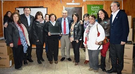 Intendente Montecinos encabezó entrega de notebooks Chilenter a Juntas de Vecinos para Alfabetización Digital