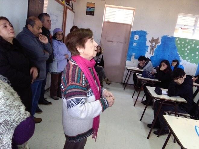 Usuarios PRAIS participaron de charla sobre escrituras y lecturas de la memoria con estudiantes de Escuela Francia