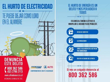 Saesa lanza campaña que busca prevenir hurto de energía eléctrica y sus riesgos asociados
