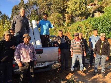 Algueros de Loncoyen reciben apoyo de FIPASUR