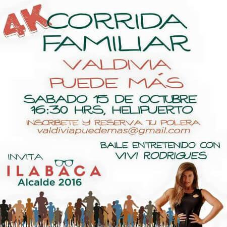 Ilabaca invita a corrida familiar y baile entretenido con Vivi Rodrigues