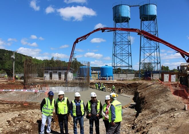 Con obras de construcción de estanques, sigue adelante ampliación del APR de Malalhueen la comuna de Lanco