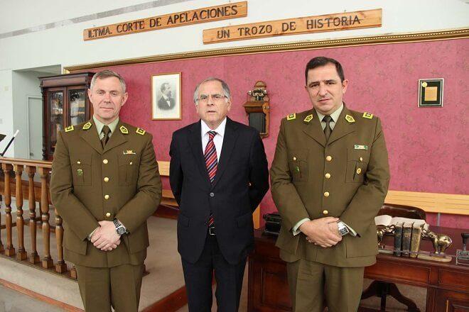 Nuevo Jefe de Zona de Carabineros Los Ríos, general Kurt Haarmann, saludó a principales autoridades regionales