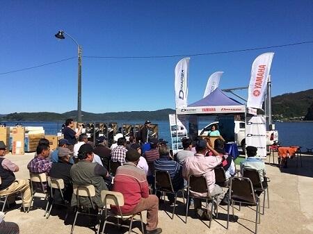 Más de 160 pescadores de Los Ríos reciben modernos motores y kit de trabajo