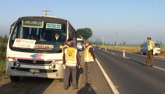 Operativo de la Seremi de Transportes y Carabineros sacó de circulación a 18 vehículos y dejó tres detenidos en Coihueco