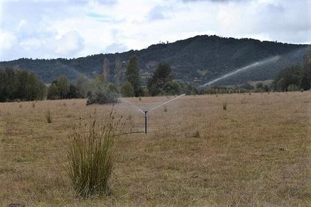 Agricultores de Meliquina solicitan mejorar captación de agua en su sector