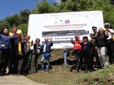 CONAF e intendencia de Los Ríos iniciaron una campaña de prevención de incendios forestales en temporada estival