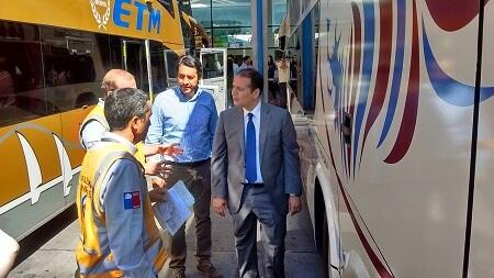 En Concepción autoridades encabezan operativo de fiscalización a buses interurbanos y rurales por fiestas de fin de año