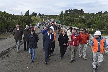 Gobierno se mantiene desplegado en Chiloé coordinando ayuda a la comunidad