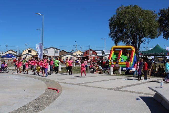 Mindep y Minvu celebraron recuperación de Plazas de Guacamayo junto a su comunidad