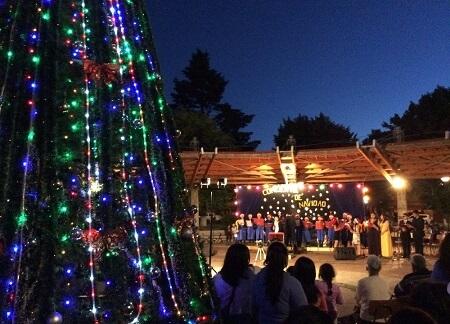 Coro de la Escuela Proyecto de Futuro acompañó el encendido del Árbol de Navidad de Paillaco