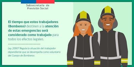 Seremi del Trabajo de la Región de Los Lagos explica normativa que protege a trabajadores y trabajadoras que son bomberos