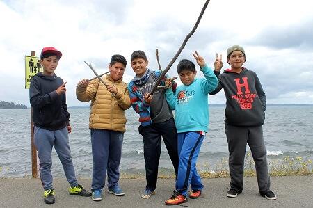 En Mantilhue se iniciaron los campamentos escolares de junaeb