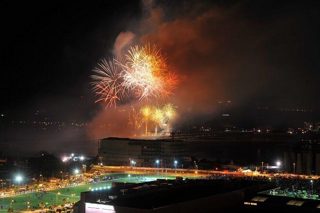 Concepción recibió el año con Fuegos en el Río Bío Bío