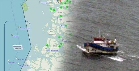 Control satelital y fiscalización aérea permiten detección de embarcaciones de la Región de Los Lagos operando ilegalmente en región de Aysén