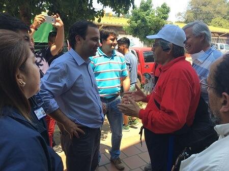 Director nacional de Junaeb llegó a constatar entrega de alimentación Junaeb en zonas afectadas por incendio en Biobío