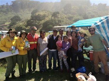 Integrantes del COE Regional se despliegan en Los Ríos entregando información sobre cómo prevenir incendios forestales