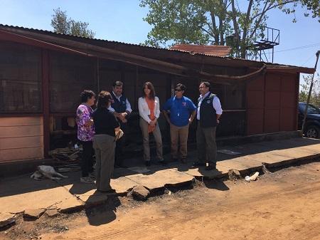 Ministra (s) de Educación evalúa en terreno el estado de los establecimientos siniestrados en la Región del Biobío